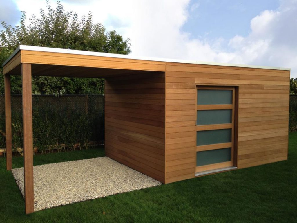 Abri de jardin moderne avec garage